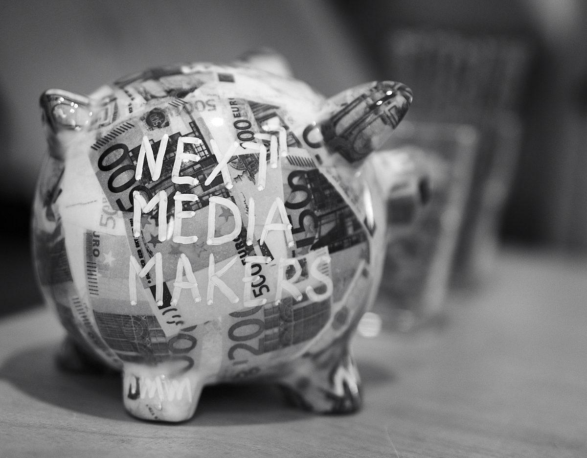 Spenden: Das next media makers-Sparschwein